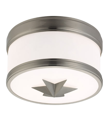 Hudson Valley Lighting Seneca 1 Light Flush Mount in Satin Nickel 1109-SN photo