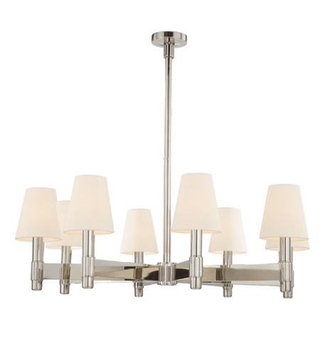 Hudson Valley Lighting Druid Hills 8 Light Chandelier in Polished Nickel 1158-PN photo