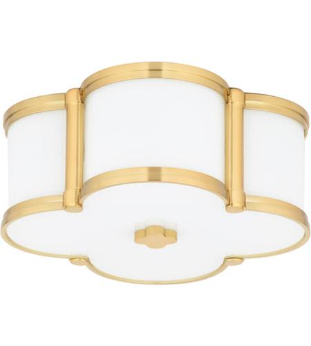 Hudson Valley Lighting Chandler 2 Light Flush Mount in Aged Brass 1212-AGB photo