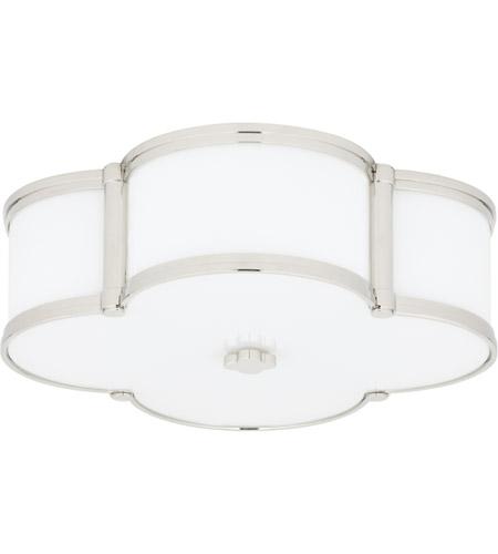 Hudson Valley 1216 Pn Chandler 3 Light 17 Inch Polished Nickel Flush Mount Ceiling