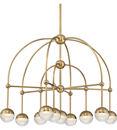 Aged Brass Metal Boca Chandeliers