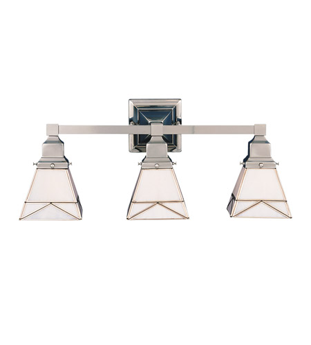 Hudson Valley Lighting Art Glass 3 Light Bath And Vanity in Satin Nickel 1273-SN photo