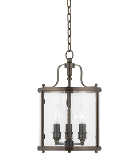 Hudson Valley Lighting Mansfield 3 Light Pendant in Distressed Bronze 1310-DB photo