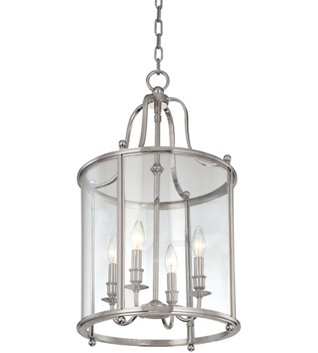 Hudson Valley Lighting Mansfield 4 Light Pendant in Polished Nickel 1315-PN photo