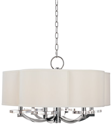Hudson Valley 1426-PN Garrison 6 Light 26 inch Polished Nickel Chandelier Ceiling Light