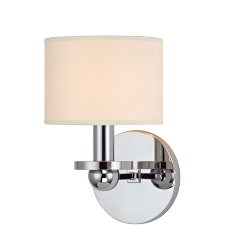 Hudson Valley Lighting Kirkwood 1 Light Wall Sconce in Polished Chrome with Eco Paper Shade 1511-PC photo