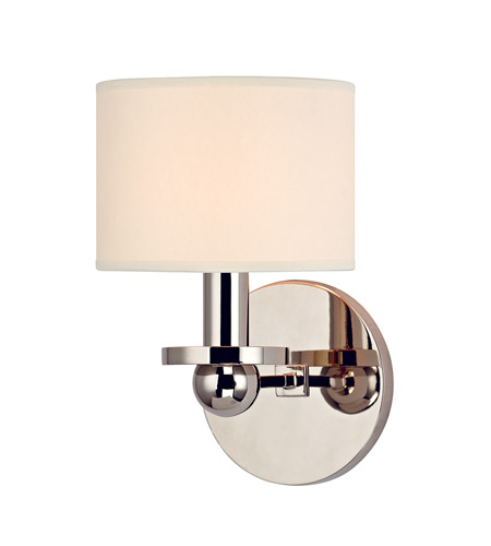 Hudson Valley Lighting Kirkwood 1 Light Wall Sconce in Polished Nickel with Eco Paper Shade 1511-PN photo