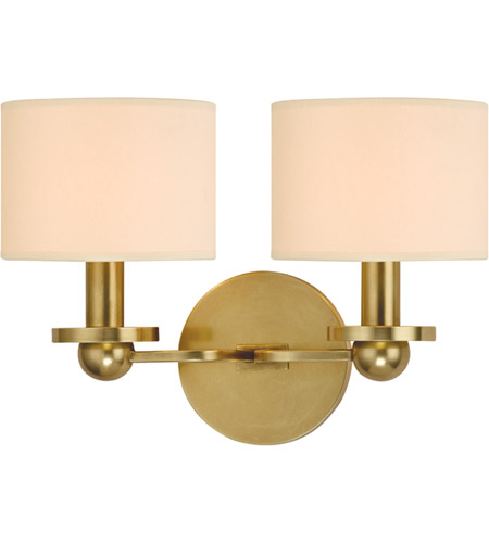 Hudson Valley Lighting Kirkwood 2 Light Wall Sconce in Aged Brass 1512-AGB photo