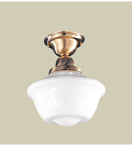 Hudson Valley Lighting Edison 1 Light Semi Flush in Satin Brass 1609F-SB photo