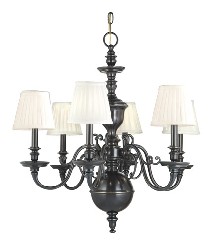 Hudson Valley 1746-OB Charleston 6 Light 29 inch Old Bronze Chandelier Ceiling Light photo
