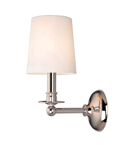 Hudson Valley 181-PN Gibson 1 Light 6 inch Polished Nickel Wall Sconce Wall Light photo