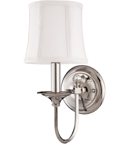 Hudson Valley Lighting Rockville 1 Light Wall Sconce in Polished Nickel 1811-PN photo