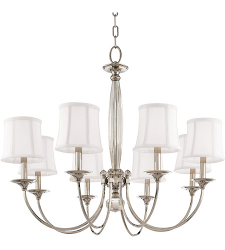 Hudson Valley 1818 Pn Rockville 8 Light 33 Inch Polished Nickel Chandelier Ceiling