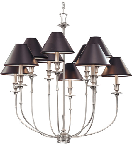 Hudson Valley 1860-AN Jasper 10 Light 35 inch Antique Nickel Chandelier Ceiling Light photo