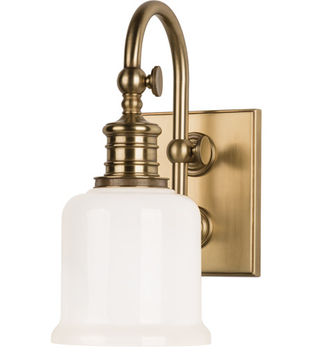 Hudson Valley 1971-AGB Keswick 1 Light 5 inch Aged Brass Bath And Vanity Wall Light photo