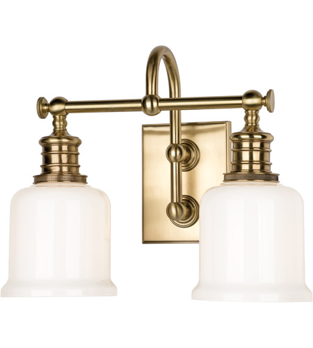 Hudson Valley Lighting Keswick 2 Light Bath And Vanity in Aged Brass 1972-AGB photo