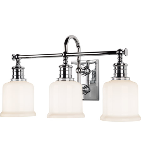 Hudson Valley 1973-PC Keswick 3 Light 21 inch Polished Chrome Bath And Vanity Wall Light  photo