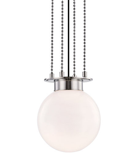 Hudson Valley 2011-PN Gunther 1 Light 11 inch Polished Nickel Pendant Ceiling Light photo