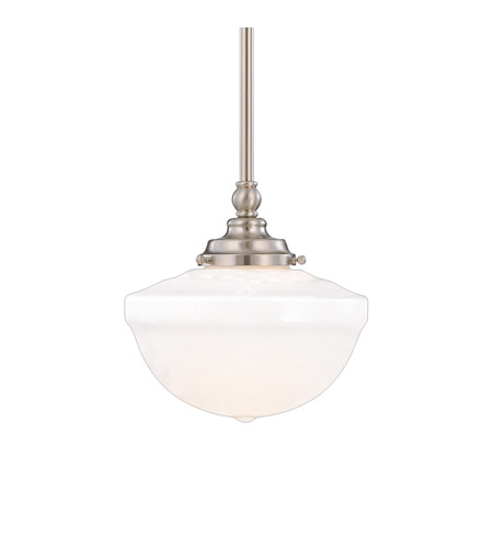 Hudson Valley Lighting Palisades 1 Light Pendant in Satin Nickel 209-SN photo