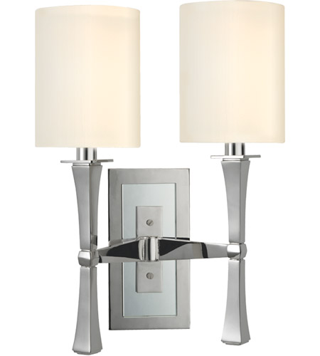 Hudson Valley Lighting York 2 Light Wall Sconce in Polished Nickel 2112-PN photo
