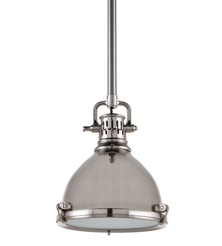 Hudson Valley 2210-SN Pelham 1 Light 8 inch Satin Nickel Pendant Ceiling Light photo