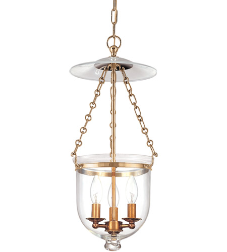 Hudson Valley 252-AGB-C1 Hampton 3 Light 10 inch Aged Brass Pendant Ceiling Light in C1 photo