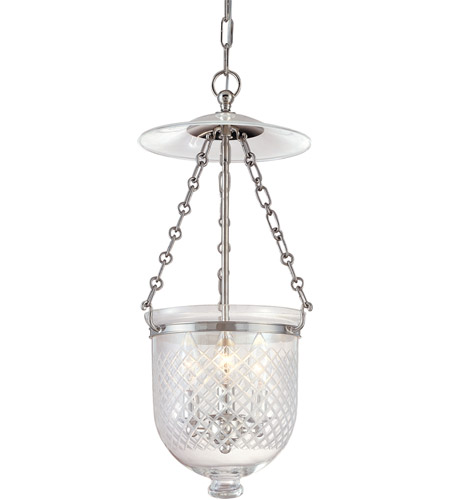 Hudson Valley 252-PN-C2 Hampton 3 Light 10 inch Polished Nickel Pendant Ceiling Light in C2 photo