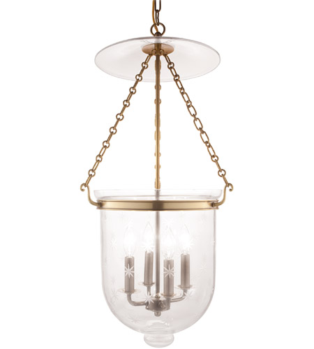 Hudson Valley 255-AGB-C3 Hampton 4 Light 15 inch Aged Brass Pendant Ceiling Light in C3 photo