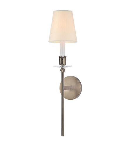 Hudson Valley Lighting Urbana 1 Light Wall Sconce in Brushed Bronze with Eco Paper Shade 261-BB photo