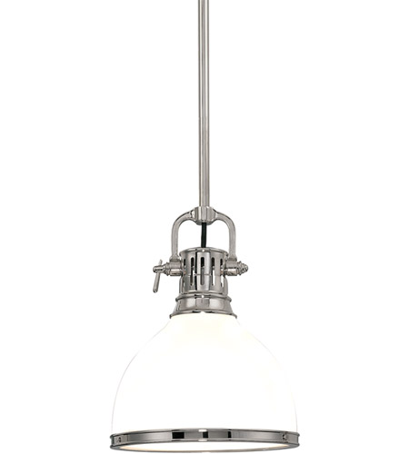 Hudson Valley 2623-PN Randolph 1 Light 13 inch Polished Nickel Pendant Ceiling Light photo