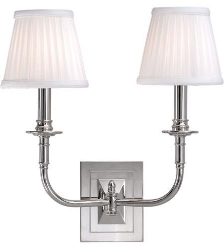 Hudson Valley 2702-PN Lombard 2 Light 14 inch Polished Nickel Wall Sconce Wall Light photo