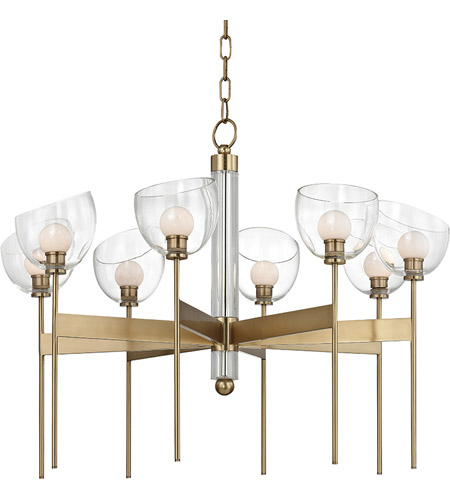 Hudson Valley Aged Brass Glass Chandeliers