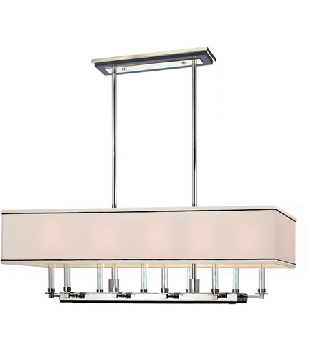 Hudson Valley 2938-PN Collins 10 Light 38 inch Polished Nickel Island Light Ceiling Light photo