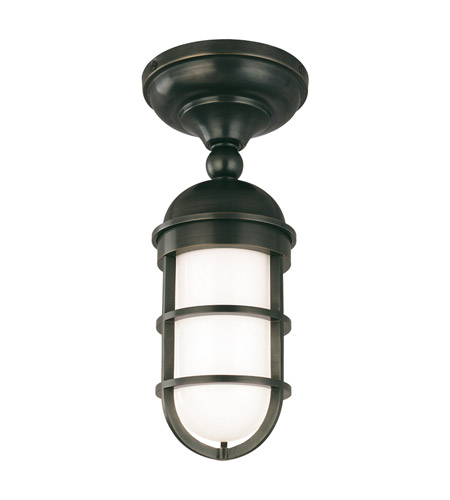 Hudson Valley 3011-OB Groton 1 Light 6 inch Old Bronze Semi Flush Ceiling Light photo