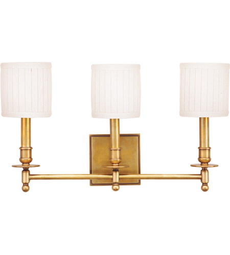 Hudson Valley 303-AGB Palmer 3 Light 20 inch Aged Brass Wall Sconce Wall Light photo