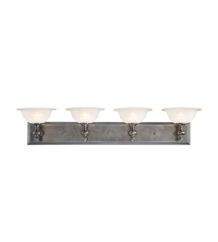 Hudson Valley Lighting Clarksville 4 Light Bath And Vanity in Antique Nickel 3054-AN photo