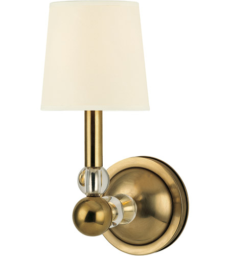 Hudson Valley Lighting Danville 1 Light Wall Sconce in Aged Brass 3100-AGB photo