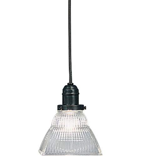 Hudson Valley 3101-OB-45C Vintage 1 Light 6 inch Old Bronze Pendant Ceiling Light in Ribbed Clear Glass, 45C photo