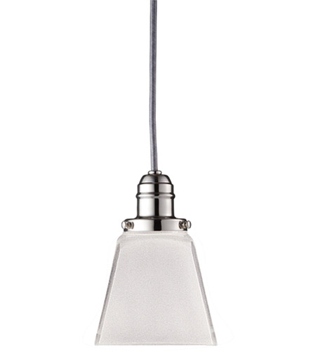 Hudson Valley 3101-PN-436 Vintage 1 Light 4 inch Polished Nickel Pendant Ceiling Light in 436 photo