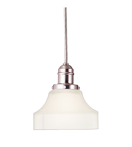 Hudson Valley 3101-SN-226 Vintage 1 Light 5 inch Satin Nickel Pendant Ceiling Light in Opal Glass, 226 photo