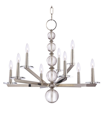 Hudson Valley 319-PN Ashley 9 Light 34 inch Polished Nickel Chandelier Ceiling Light photo