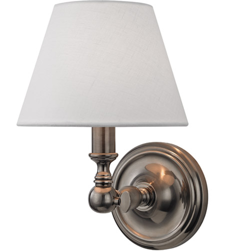 Hudson Valley 3221-HN Sidney 1 Light 7 inch Historic Nickel Wall Sconce Wall Light photo
