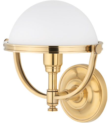 Hudson Valley 3301-AGB Stratford 1 Light 10 inch Aged Brass Wall Sconce Wall Light photo