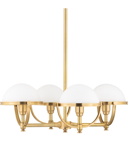 Hudson Valley 3314-AGB Stratford 4 Light 27 inch Aged Brass Chandelier Ceiling Light photo