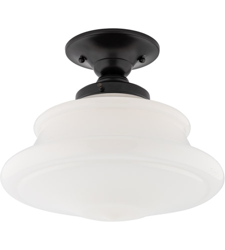 Hudson Valley 3412F-OB Petersburg 1 Light 13 inch Old Bronze Semi Flush Ceiling Light
