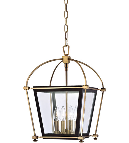 Hudson Valley Lighting Hollis 4 Light Pendant in Aged Brass 3612-AGB photo