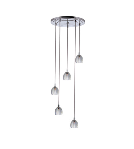 Hudson Valley 3613-PC-S-004 Naples 1 Light 11 inch Polished Chrome with Silver Cord Pendant Ceiling Light photo