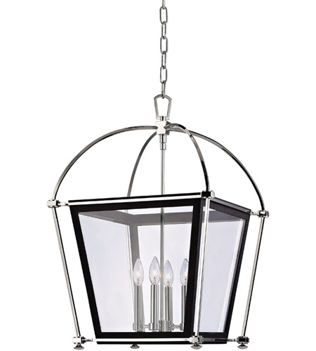 Hudson Valley Lighting Hollis 4 Light Pendant in Polished Nickel 3618-PN photo