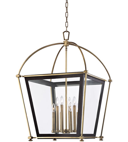 Hudson Valley Lighting Hollis 8 Light Pendant in Aged Brass 3624-AGB photo