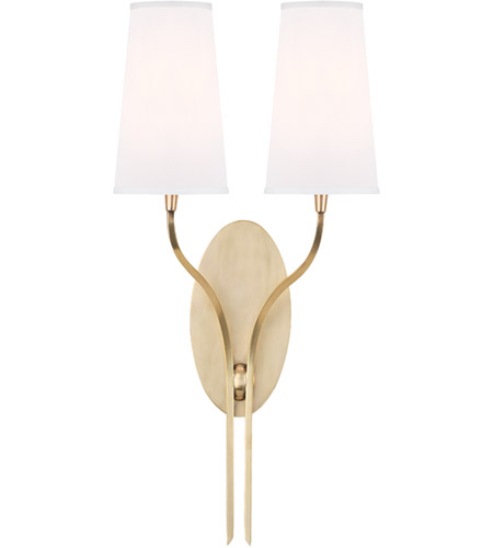 Hudson Valley Lighting Rutland 2 Light Wall Sconce in Aged Brass 3712-AGB-WS photo